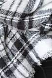 Black And White Plaid Blanket Scarf