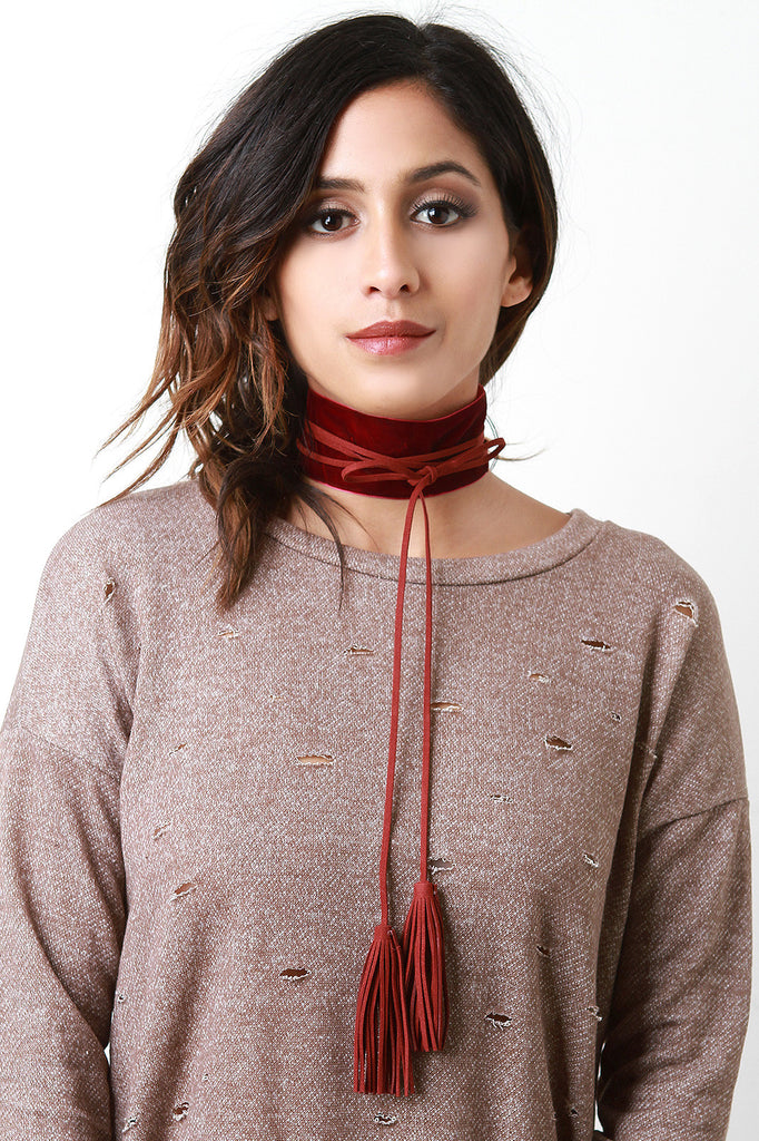 All Wrapped Up Wide Choker