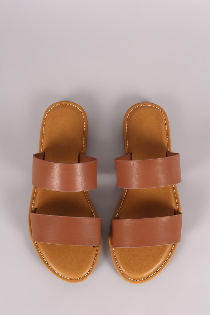 Bamboo Double Band Slide Sandal