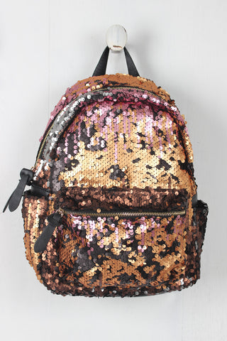 Girly Sequin Mini Backpack