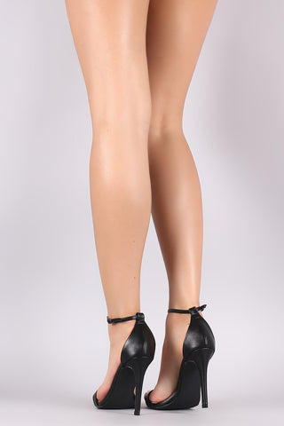 Liliana Open Toe Ankle Strap Stiletto Heel