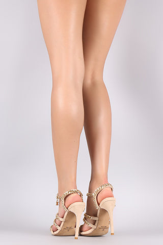 Liliana Suede Chain-Embellished Stiletto Heel