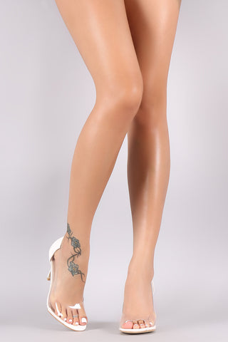 Peep Toe Lucite Stiletto Pump