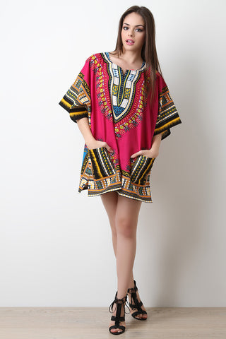 Traditional Dashiki Shift Dress