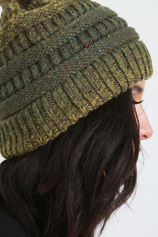 Speckle Marled Knit Beanie