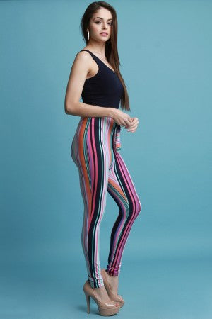 Contrast Striped Waist Tie Jumpsuit