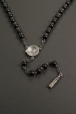 "Collana stile ""Rosario"" in Onice & Argento 925/°°° - Sterling Silver"