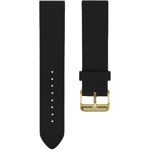 Black with Gold Buckle