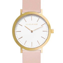 Gold & Peach Leather Timepiece