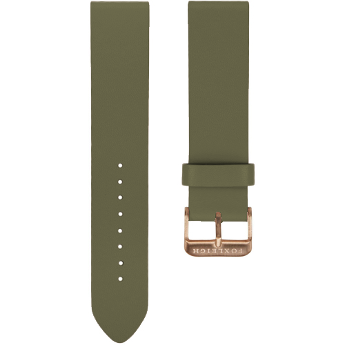 Khaki with Rose Gold Buckle