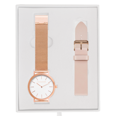 Rose Gold Mesh w/ Peach Gift Box