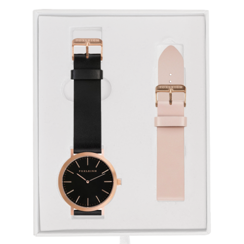 Rose Gold Black w/ Peach Gift Box
