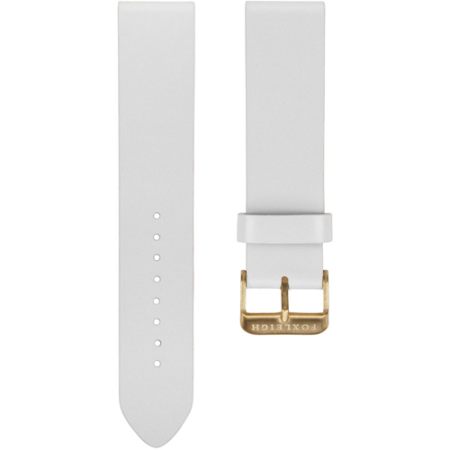 White with Gold Buckle