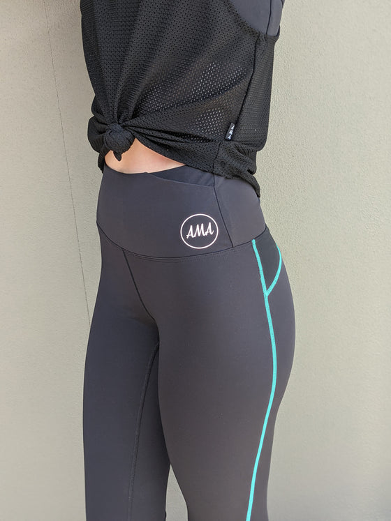 Compression Panelled Leggings - Custom Stitch Colour