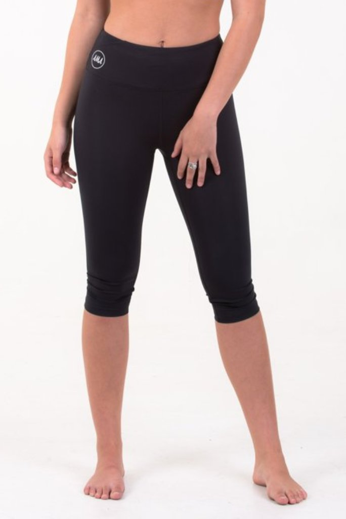 Sienna Capri Leggings - Black