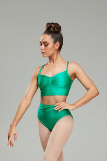 Claudette Crop - Emerald