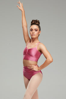 Claudette Crop - Dusty Rose