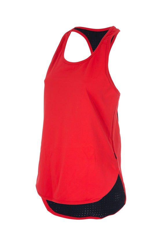 Colour Pop Racer Singlet - RED