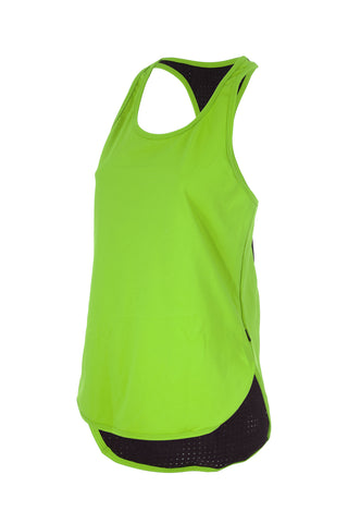 Colour Pop Racer Singlet - GREEN