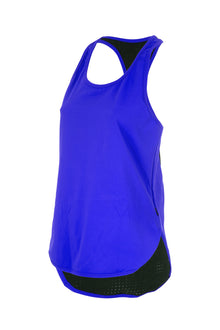 Colour Pop Racer Singlet - BLUE