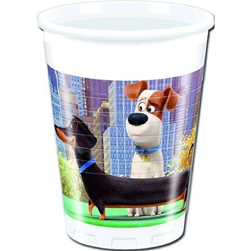 CUPS PLASTIC 200ML 8CT,  THE SECRET LIFE OF PETS