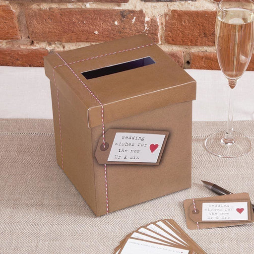 Just My Type - Wedding Wishes Post Box
