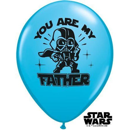 "11""  RND  ROBIN'S EGG     25CT,  STAR WARS: YOU ARE MY FATHER"