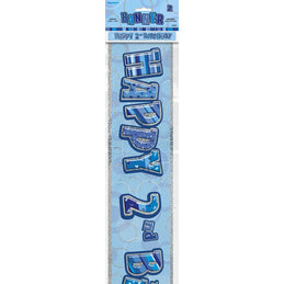 Glitz Blue 2nd Foil Banner (9ft) (special price of 30p) (Also Upstairs)