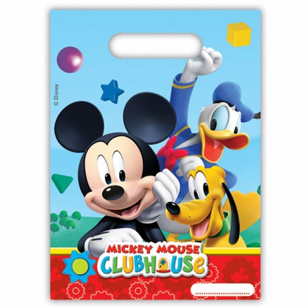 PARTY BAGS 6CT,  PLAYFUL MICKEY