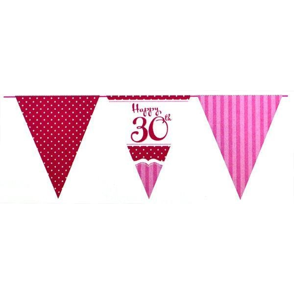 Perfectly Pink Bunting 30th