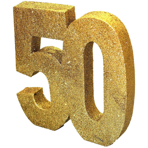 Gold Glitter Table Decoration Number 50