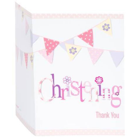 Unique girl christening thank you cards