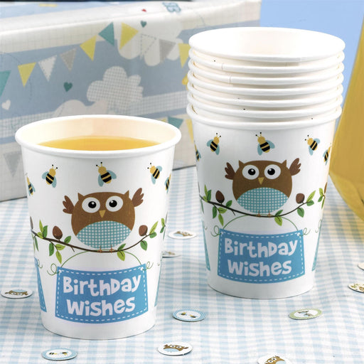 Little Owls - Cup - 8 - Blue