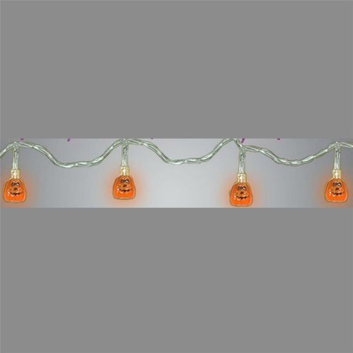 8 Pumpkin LED String Lights Davies Halloween
