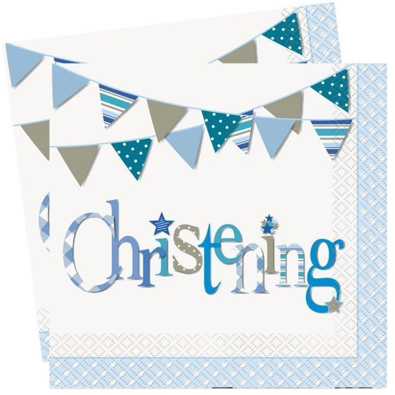 Unique boy christening napkins