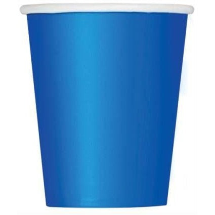Royal Blue Solid 9oz Paper Cups, 8ct