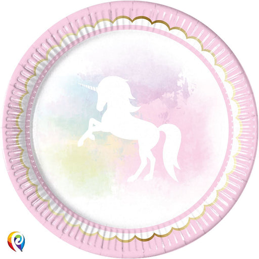 Believe In Unicorns Paper Plates