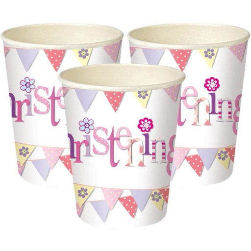 Unique girl christening cups