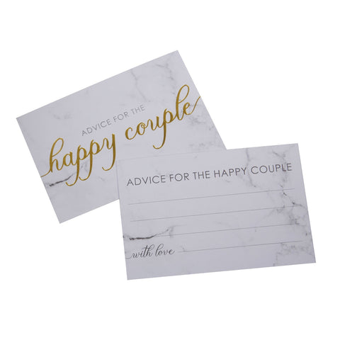 Scripted Marble - Wedding Wishes Cards - 25