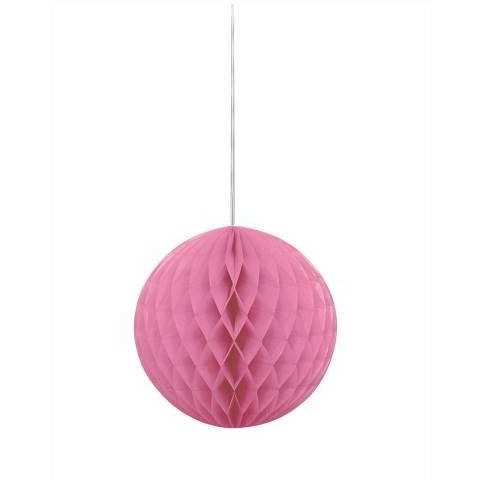1 Hot Pink Honeycomb Ball 8""