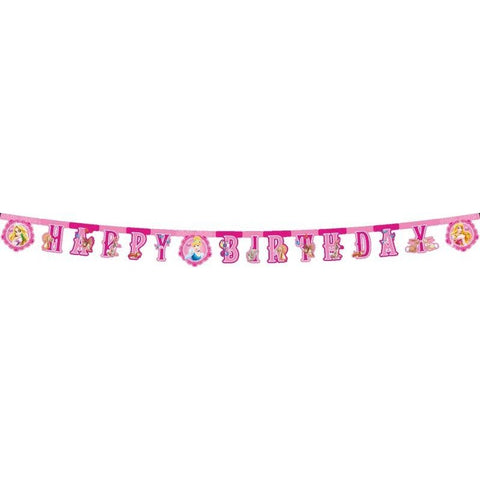 BANNER 1CT - HAPPY BIRTHDAY,  DISNEY PRINCESS