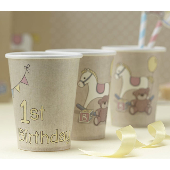 Rock a bye Baby 1st birthday cups