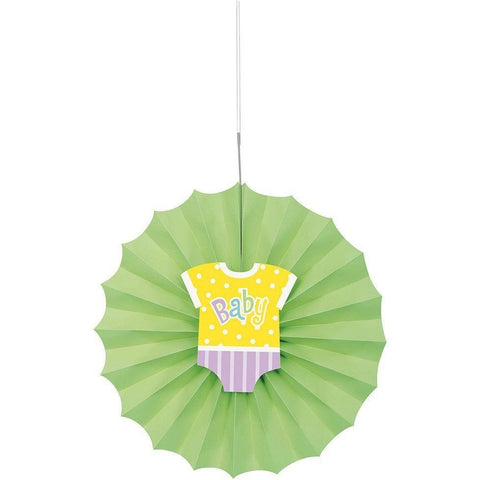 POLKA DOT BABY SHOWER DECORATIVE FAN S/O