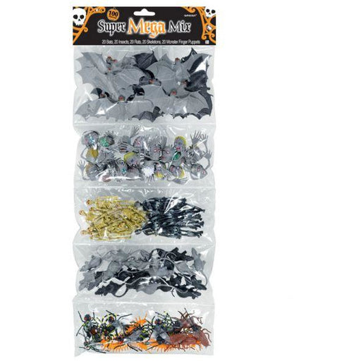 Halloween 100PK Creepy Crawly Mega Mix Amscan