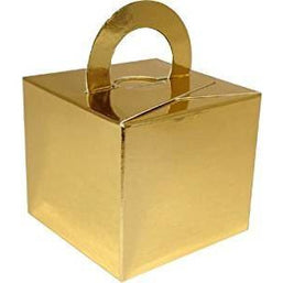 50 (Single) Cake Box Balloon Weights Gold