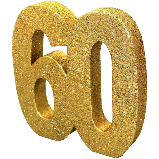 Gold Glitter Table Decoration Number 60