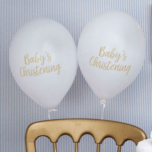 Pattern Works - Balloons Christening White - 8 pack