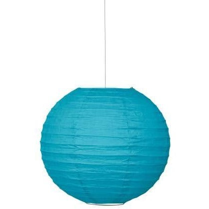 "Caribbean Teal Solid 10"" Round Lantern (Also Upstairs)"