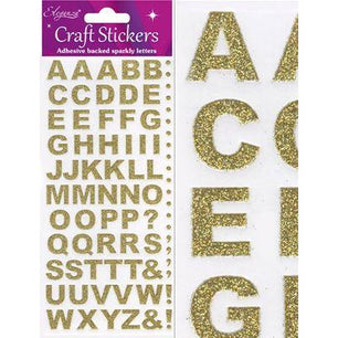 Eleganza Stickers - Bold Alphabet Set Gold - no.65