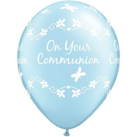 QX 11R 06CT PRINT RETAIL PKG,  COMMUNION BUTTERFLIES/PRL BLUE